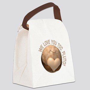 Love You Pluto Canvas Lunch Bag