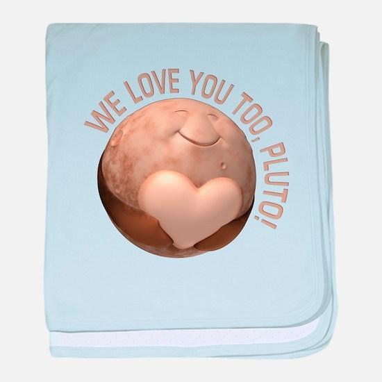 Love You Pluto baby blanket