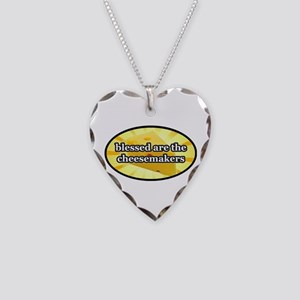 BLESSED ARE THE CHEESEMAKERS Necklace Heart Charm