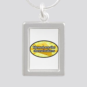 BLESSED ARE THE CHEESEMA Silver Portrait Necklace
