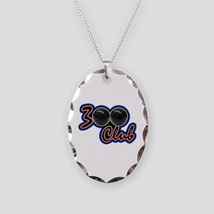 300 CLUB - PERFECT GAME SCORE Necklace Oval Charm