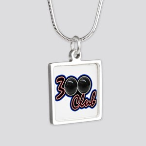 300 CLUB - PERFECT GAME SC Silver Square Necklace