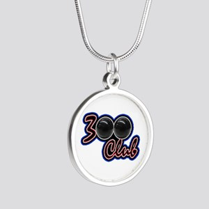 300 CLUB - PERFECT GAME SCOR Silver Round Necklace