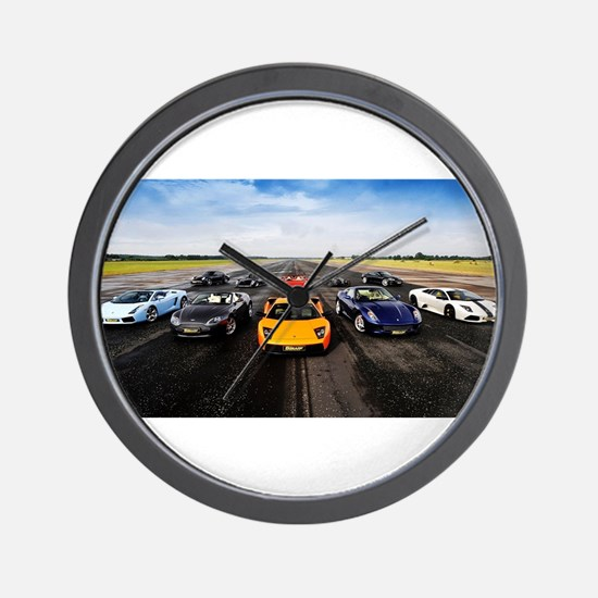Supercars Wall Clock