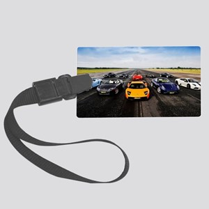 Supercars Large Luggage Tag