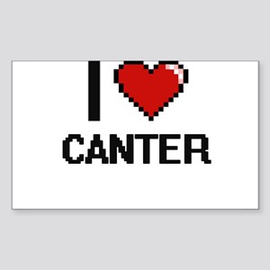 I love Canter Digitial Design Sticker