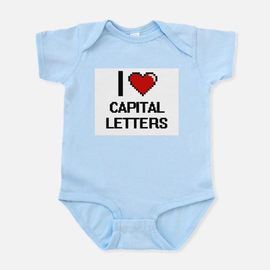 I love Capital Letters Digitial Design Body Suit