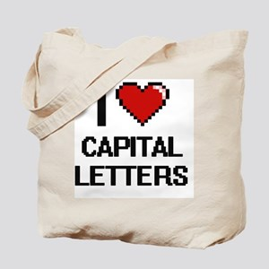 I love Capital Letters Digitial Design Tote Bag