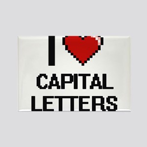 I love Capital Letters Digitial Design Magnets