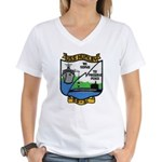 USS HUNLEY Women's V-Neck T-Shirt