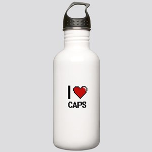 I love Caps Digitial D Stainless Water Bottle 1.0L