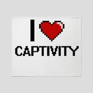 I love Captivity Digitial Design Throw Blanket