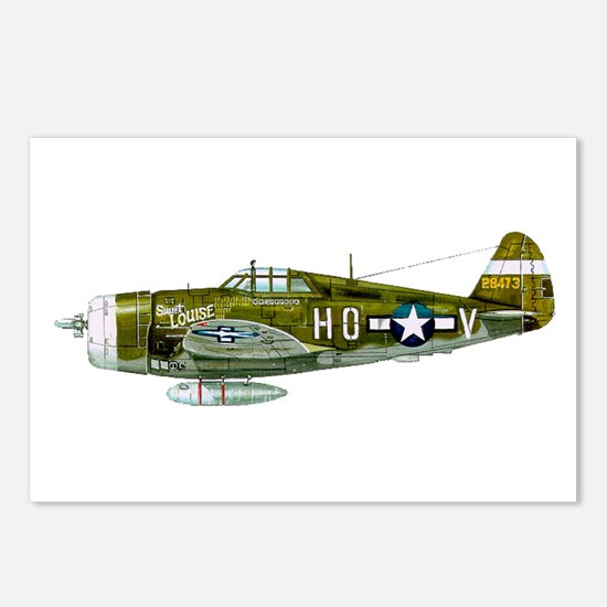 Cute P 47 thunderbolt Postcards (Package of 8)