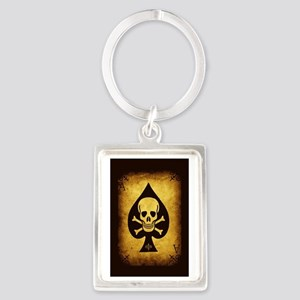 The Death Card Portrait Keychain