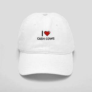 I love Cash Cows Digitial Design Cap