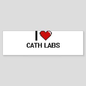 I love Cath Labs Digitial Design Bumper Sticker