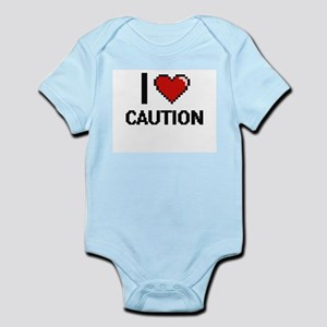 I love Caution Digitial Design Body Suit