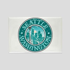 Seattle, Washington Rectangle Magnet
