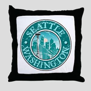 Seattle, Washington Throw Pillow