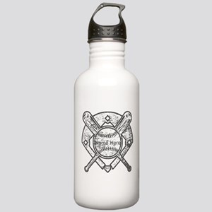 Personalized Ball Bats Diamond Water Bottle