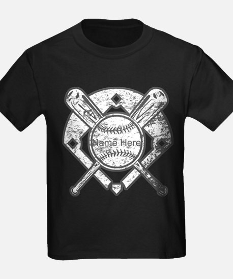 Personalized Ball Bats Diamond T-Shirt