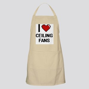 I love Ceiling Fans Digitial Design Apron