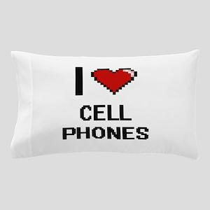 I love Cell Phones Digitial Design Pillow Case