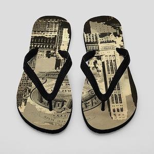 Vintage USA New York Flip Flops