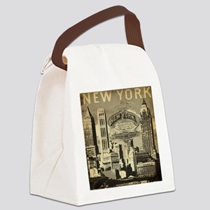 Vintage USA New York Canvas Lunch Bag