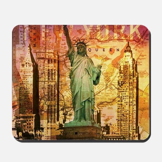cool statue of liberty Mousepad