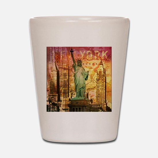 cool statue of liberty Shot Glass