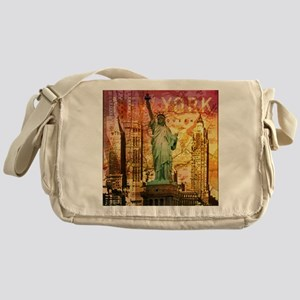 cool statue of liberty Messenger Bag