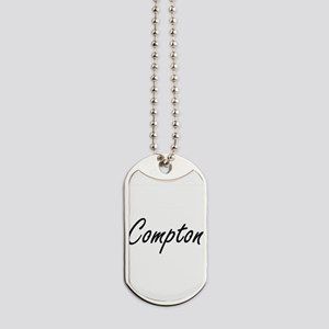 Compton surname artistic design Dog Tags