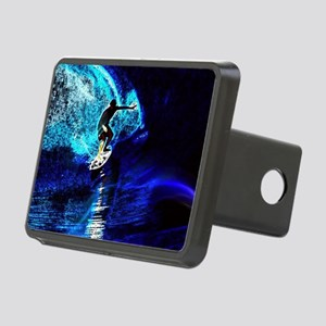 beach blue waves surfer Rectangular Hitch Cover