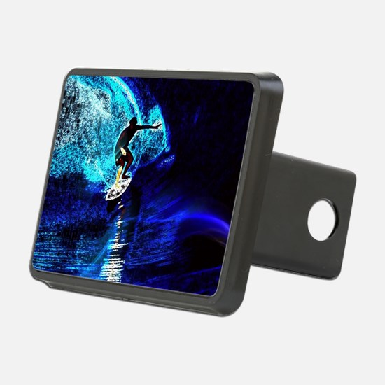 beach blue waves surfer Hitch Cover