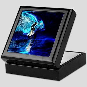 beach blue waves surfer Keepsake Box