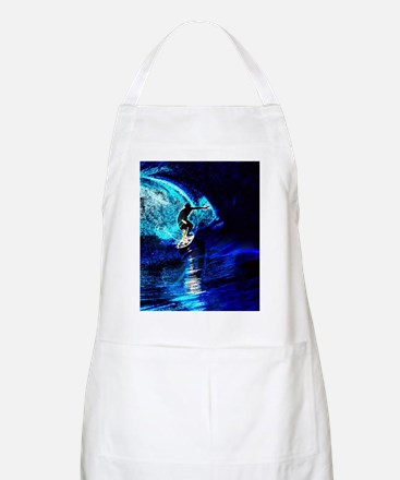 beach blue waves surfer Apron