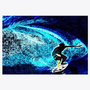 beach blue waves surfer