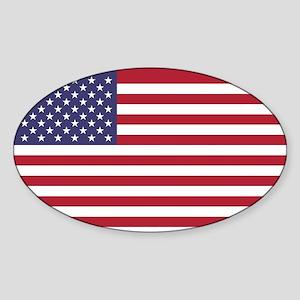 USA flag authentic version Sticker