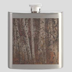fall landscape birch tree Flask