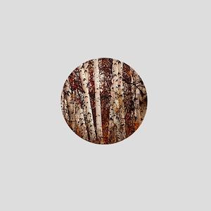 fall landscape birch tree Mini Button