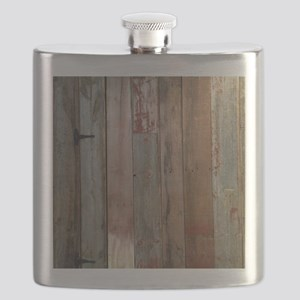 rustic western barn wood Flask