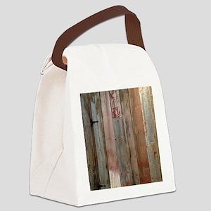 rustic western barn wood Canvas Lunch Bag
