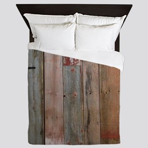 rustic western barn wood Queen Duvet