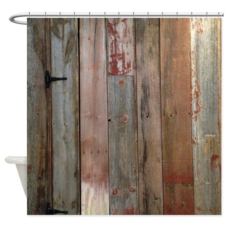 Rustic Western Barn Wood Shower Curtain By Listing Store