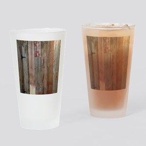 rustic western barn wood Drinking Glass