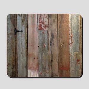 rustic western barn wood Mousepad
