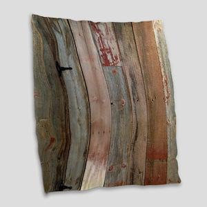 rustic western barn wood Burlap Throw Pillow