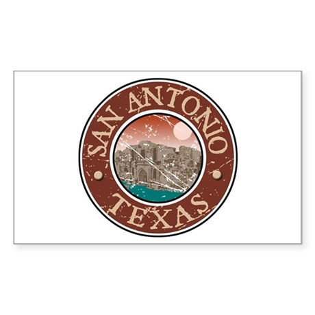 San Antonio Rectangle Sticker