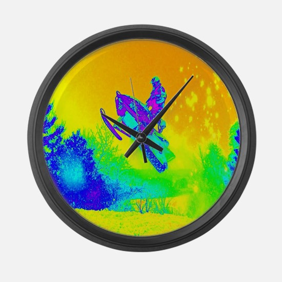 modern winter snowmobile Large Wall Clock
